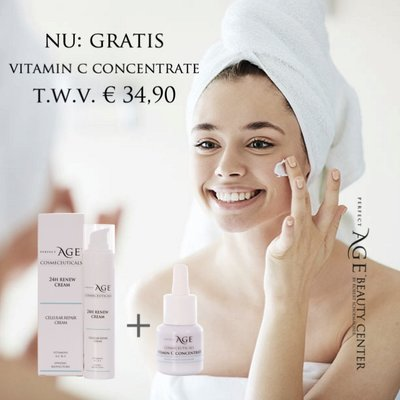 24H Renew Cream met GRATIS Vitamin C Concentrate