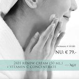 24H Renew Cream met Vitamin C Concentrate voor € 79,- !_