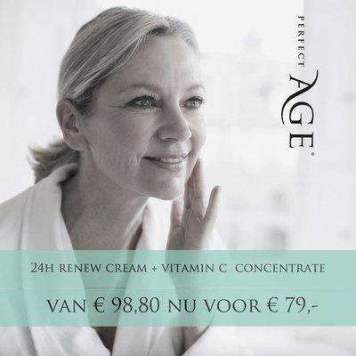 24H Renew Cream met Vitamin C Concentrate voor € 79,- !