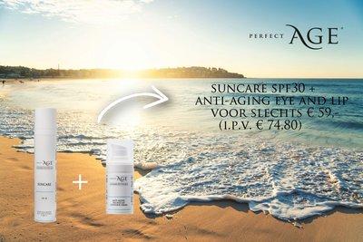 Suncare SPF30 + Eye and lip Cream voor € 59,- (i.p.v. € 74,80)